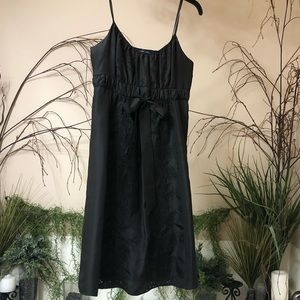 Black embroidered Banana Republic dress